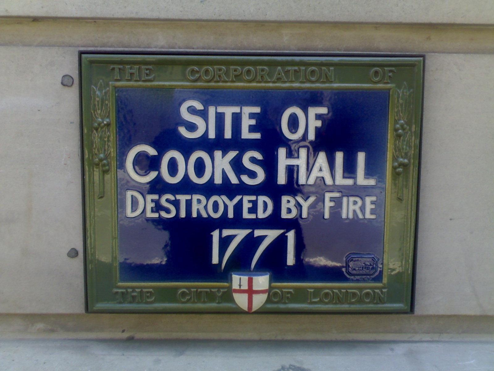 Cooks Hall site - 1771
